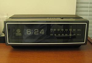 A mid 1970s digital alarm clock radio using ro...