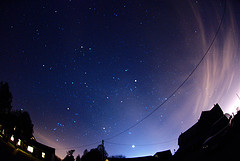 Winter Constellations and Zodiacal light