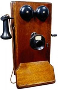 1950's rural america had crank phones