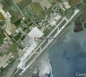 Marco Polo Airport in Venice Italy